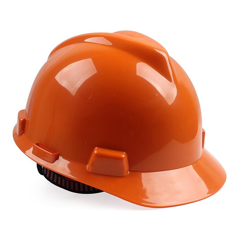 梅思安10146460橙色标准型PE安全帽图1