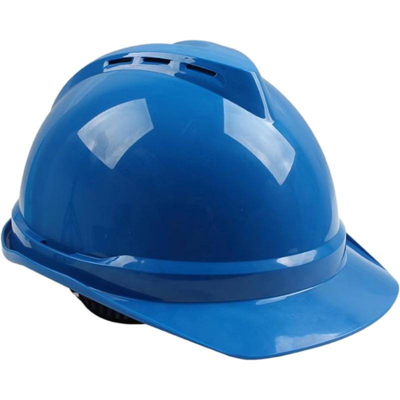 梅思安10146615蓝色豪华PE安全帽图1