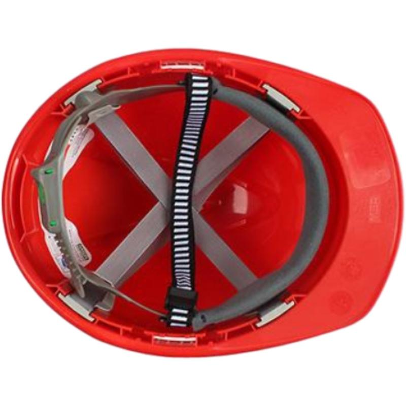 梅思安10146614红色豪华PE安全帽图3