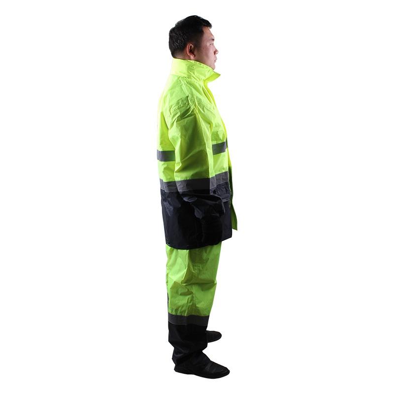 3M R2912荧光黄PVC防水安全警示服图2