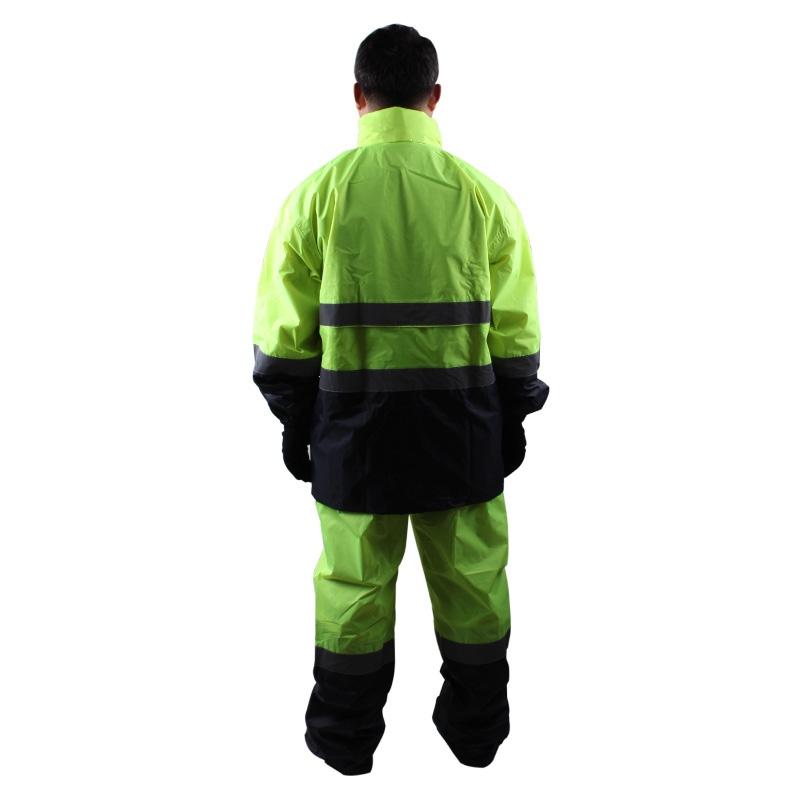 3M R2912荧光黄PVC防水安全警示服图4