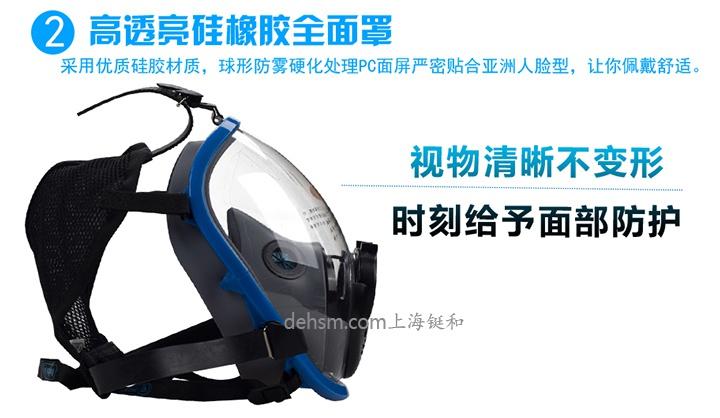 代尔塔106005正压式空气呼吸器高透亮硅橡胶全面罩