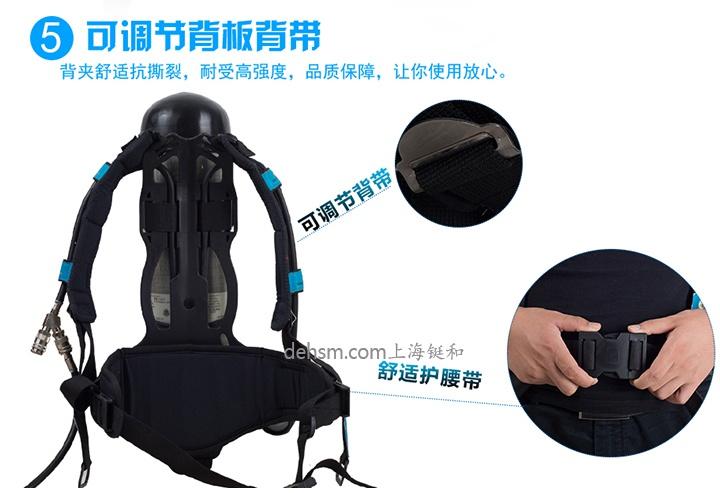代尔塔106005正压式空气呼吸器可调节背架