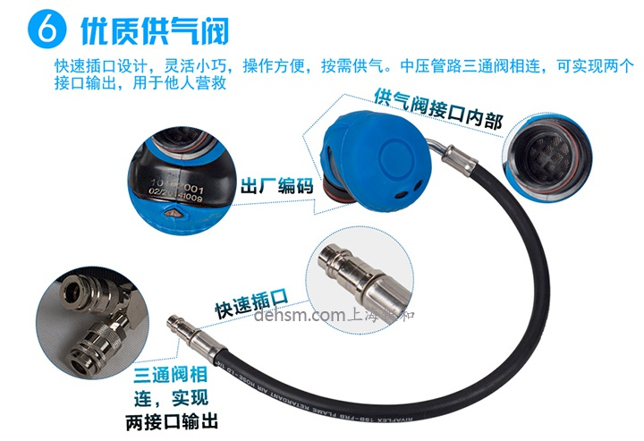 代尔塔106005正压式空气呼吸器优质供气阀