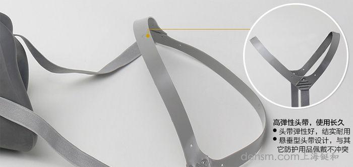 3M3200半面具防毒面具高弹性头带细节图