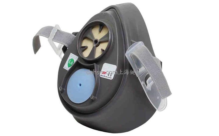 3M3200半面罩防毒面具图片-侧面