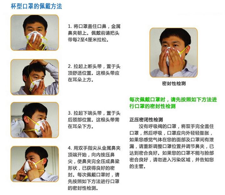 3M8210N95防尘口罩佩戴步骤(图)