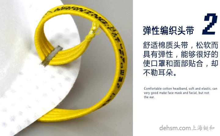 3M8511N95防护口罩弹性编织头带
