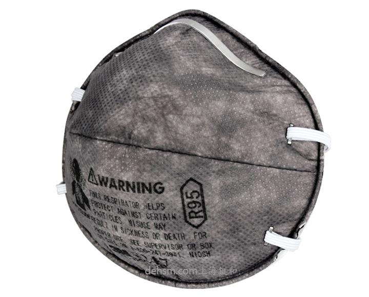3M8247R95有机蒸气异味及颗粒物防护口罩侧面图