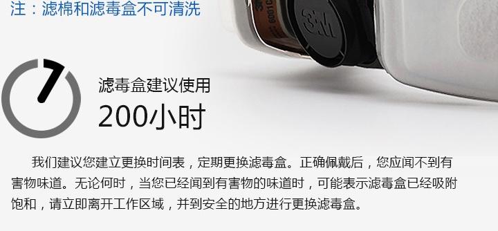 3M620P防毒面具滤毒盒使用期限