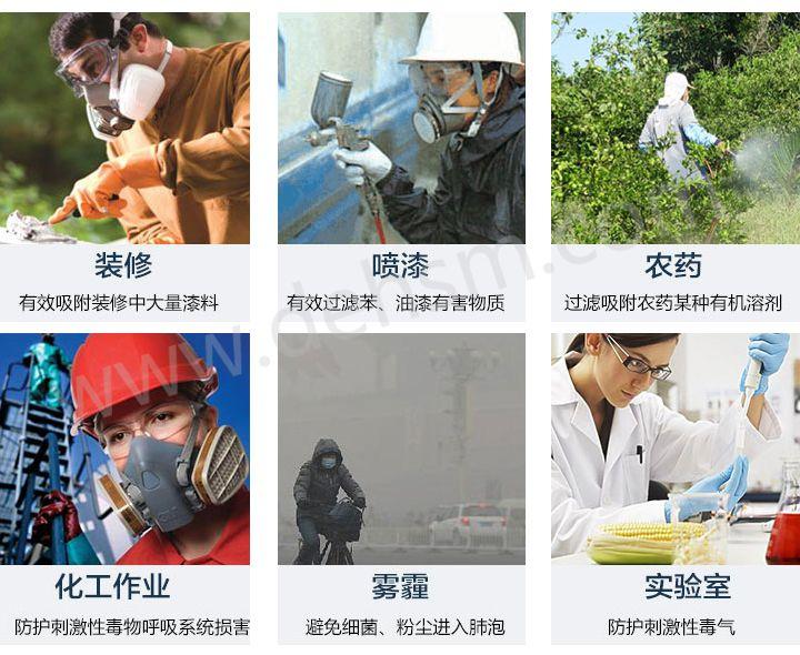 3M6200+6005防有机气体及甲醛防毒面具使用领域
