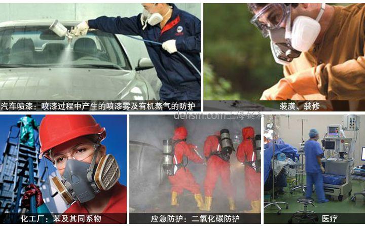 DH20154全面罩防毒面具使用领域